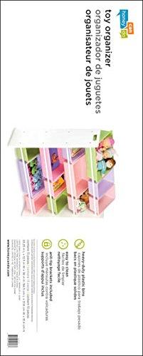 Honey-Can-Do SRT-01603 Kids Toy Organizer and Storage Bins, White/Pastel