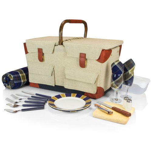 picnic-time-pioneer-picnic-basket-with-deluxe-service-for-two-tan-navy