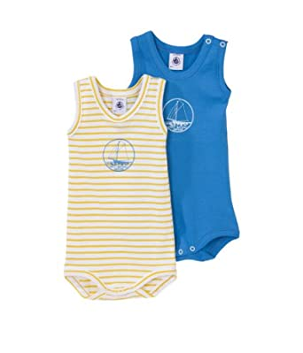 Petit Bateau Baby - Jungen Body 2 Er Pack 33934, Gr. 86 (18 Monate, Fr 81Cm), Mehrfarbig (Special Lot 00)