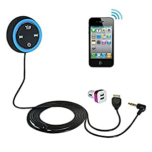Bluetooth Hands-free Car Kit Built-in 4.0 Monster Bt Chip for Cars Aux Input Jack Line-in Music and Phone to Car Stereo