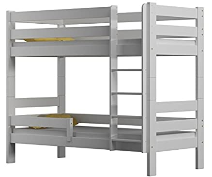 Letto a castello Sophie, due Sleeper, struttura letto in legno di pino 160x 80, Legno, White, 160x80