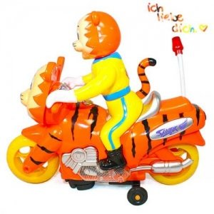 Cute Tiger On Tiger Motorbike Electric Toy