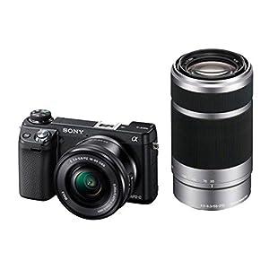 """Sony NEX6YB Appareil photo numérique à objectif interchangeable 16,1 Mpix Ecran 3"""" WiFi HDMI USB Noir"""