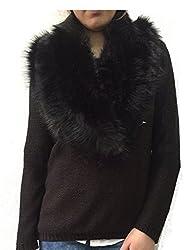 Ladies Faux Fur Collar Stole Wrap Autumn Winter Scarf Gift Lot's of Colour's