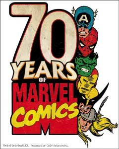 Marvel(マーベル) Marvel Comics Retro 70 Years ステッカー