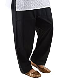 Neha Fashion Women's Cotton Regular Salwar (Black_Free Size)