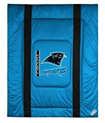 "Carolina Panthers Twin Bed Sideline Comforter (66""x86"") NFL"