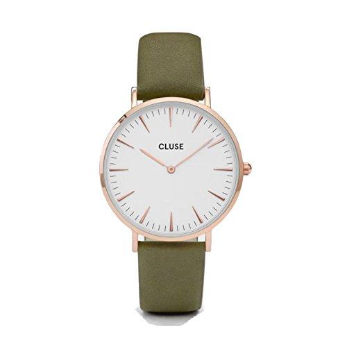 Cluse-Damen-Armbanduhr-Analog-Quarz-Leder-CL18023