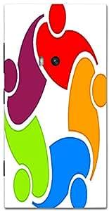 Timpax protective Armor Hard Bumper Back Case Cover. Multicolor printed on 3 Dimensional case with latest & finest graphic design art. Compatible with Nokia Lumia 920 Design No : TDZ-28157