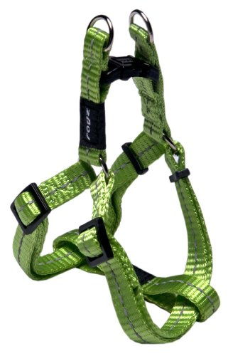 Rogz Utility Small 3/8-Inch Reflective Nitelife Adjustable Dog Step-in-Harness, Lime