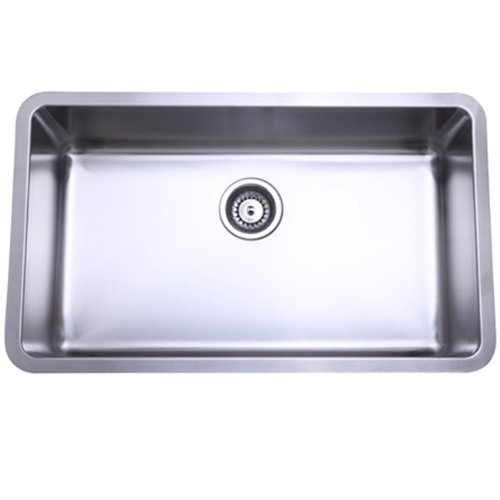 Kingston Brass GKUS3018 Undermount Single Bowl Kitchen Sink 30-Inch-Length by 18-Inch-Width by 10-Inch-Depth, 18 Gauge, Brushed Nickel