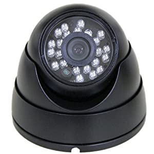600TVL Indoor/Outdoor IR Vandal Resistant Turret Dome Security Camera