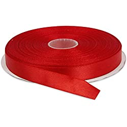"½"" Red Double Face Solid Satin Ribbon 50 Yards-Roll Multiple Colors Available by Topenca Supplies"