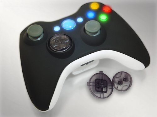 Xcm 360 New Wireless Control Pad Shell With New D-Pad (Black/White)