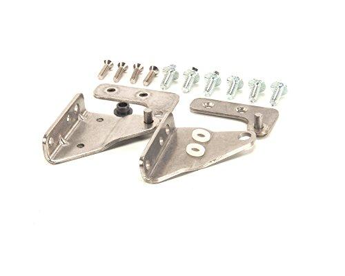 Glastender 06006207 left hinge set and brackets 180 degree for 180 degree swing door hinges