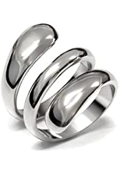 Lanyjewelry Designer Style 316 Stainless Steel Plain Women's Fashion Ring