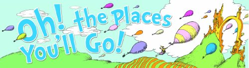 Eureka Dr. Seuss Classroom Banner, Oh The Places Balloons, 12 X 45 Inches (849581) front-710151