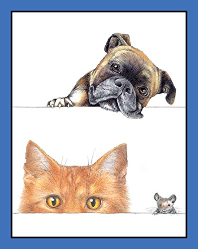Entertaining with Caspari Dogs and Cats BT119 Bridge Tallies Cards (Pack of 12)
