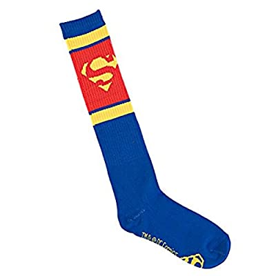 Superman / Supergirl Juniors Athletic Knee High Socks