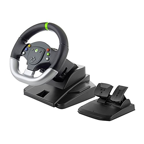 HIGHOT Premium 2 in 1 Wired Steering Wheel for Xbox 360 / PC Game (Xbox360 Pedals And Steering Wheel compare prices)
