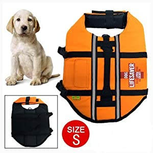 Jardin Night Reflective Pet Dog Saver Life Jacket Small from Dragonmarts Co. Ltd. / Uxcell