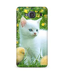 Amez designer printed 3d premium high quality back case cover for Xiaomi Redmi 2S (Cat kitten)