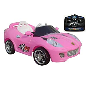 Charles Jacobs Kids RIDE ON SPORT Style Car Battery Powered Toy in PINK w/ 1 YEAR 5 STAR WARRANTY!