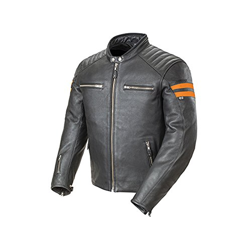Joe Rocket Classic '92 Men's Leather On-Road Motorcycle Jacket - Black/Orange / X-Large (Joe Rocket Classic 92 compare prices)