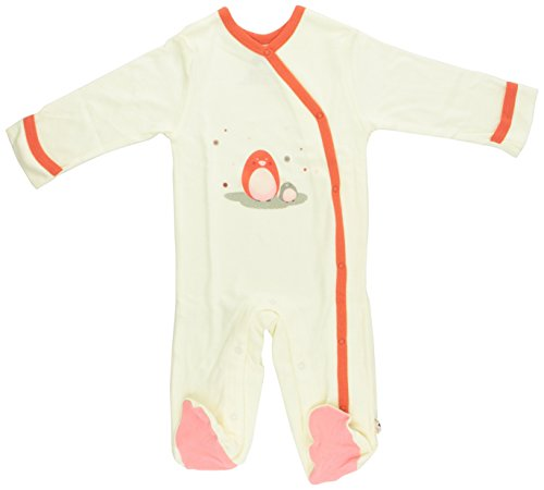 Babysoy Baby Girls' O Soy Footie - Penguin - 3-6 Months