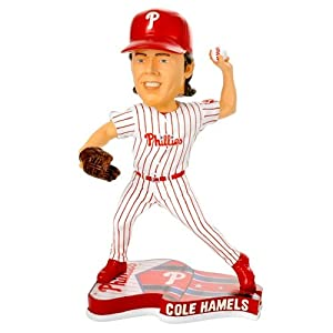 Philadelphia Phillies Cole Hamels 2013 Pennant Base Bobblehead Figurine by Forever Collectibles