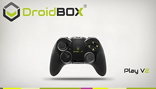 DroidBOX Play Gamepad - Bluetooth 3.0, batteria ricaricabile agli ioni di litio per Android e PC. Giocare e Emulatori con Dual Sticks, D-pad e 12 pulsanti