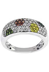 Johnny Dang And Co Multicolor Diamond Ring