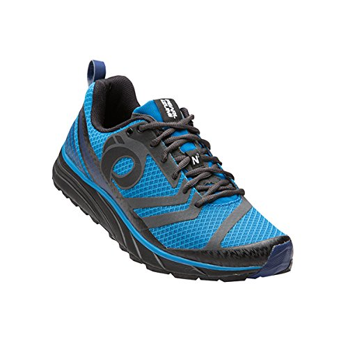 pictures of Men's EM Trail N 2 V2 Running Shoe, Black/Fountain Blue, 8 D US