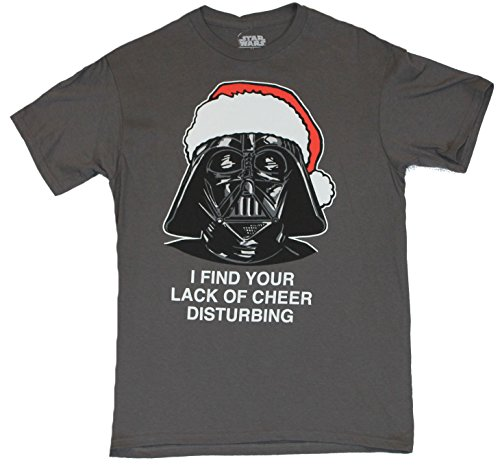 "Star Wars Mens T-Shirt - Darth Vader Christmas ""I Find Your Lack of Cheer à"""