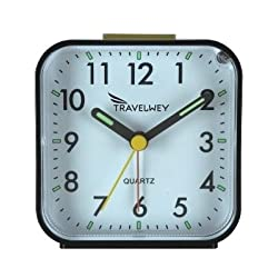 Travelwey Analog Alarm Clock, No Ticking, Alarm, Snooze, Light