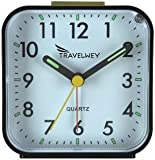 Travelwey Travel Alarm Clock, Hard Plastic Casing, 80mm by 44mm