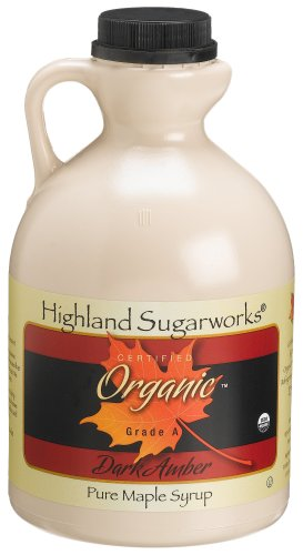 Highland Sugarworks Pure Organic Grade A Dark Amber Maple Syrup, 32-Ounce Jug