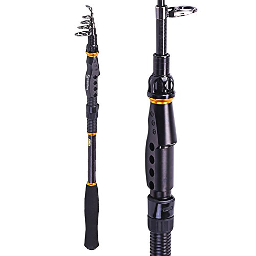 Sougayilang spinning telescopic fishing rod graphite for Salt water fishing poles