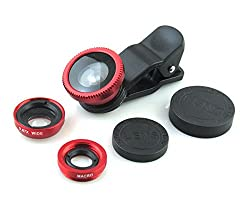 Universal 3 in 1 Cell Phone Camera Lens Kit - Fish Eye Lens / 2 in 1 Macro Lens & Wide Angle Lens / Universal Clips