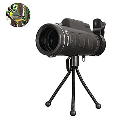 Monocular Telescope,F.Dorla 35X50 Outdoor Portable High-powered Wide-angle Monoculars Zoom Lens Night Vision Travelling Telescope with Tripod Cell Phone Holder for Hunting Camping Birds Watching from F.Dorla