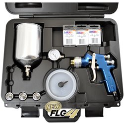 DeVILBISS FinishLine 4 HVLP Master Spray Gun Kit with all 4 fluid tips in a case