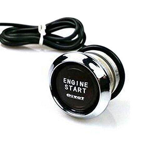 Amjimshop Vovotrade(Tm) 12V Car Engine Start Push Button Switch Ignition Starter Kit Blue Led