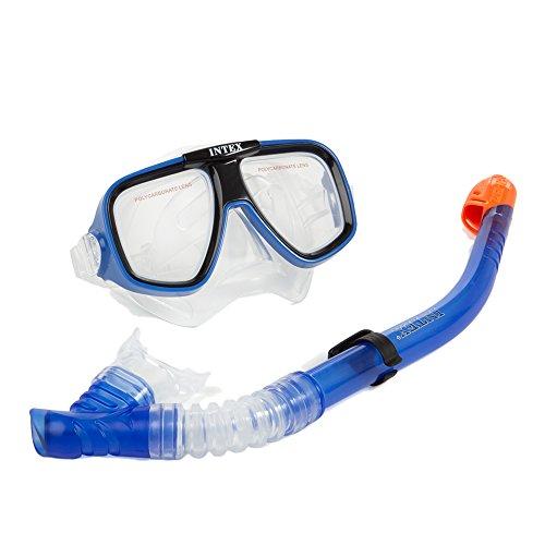 Intex 55948 - Maschera e Boccaglio Reef Rider, Blu
