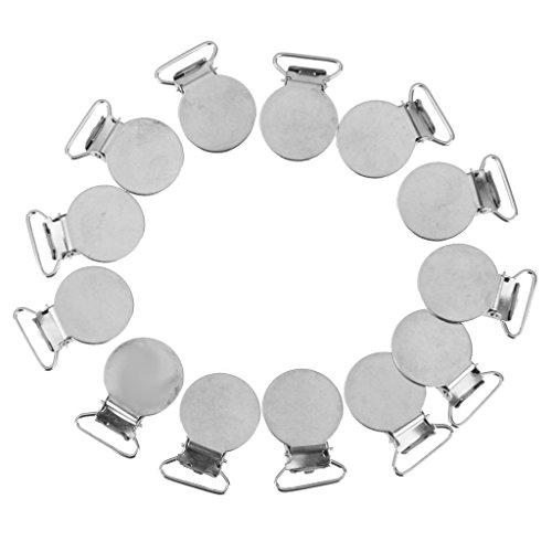 20x-Runde-Form-Schnuller-Straps-Clips-Halter-Handwerk-W-Kunststoffeinsatz-2cm