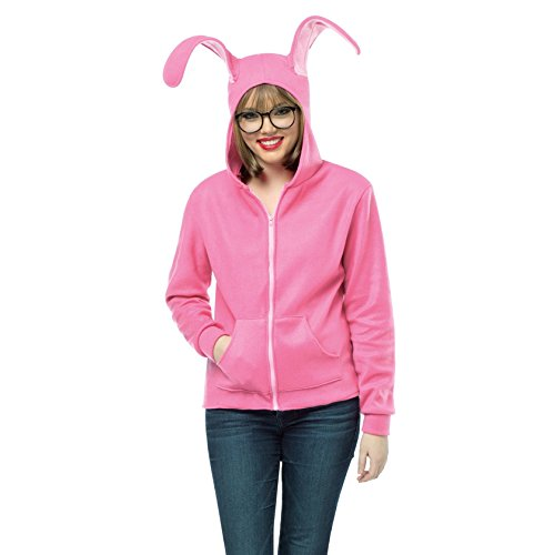 Ralphie's Adult Bunny Suit Hoodie A Christmas Story Mens Womens Pink Easter