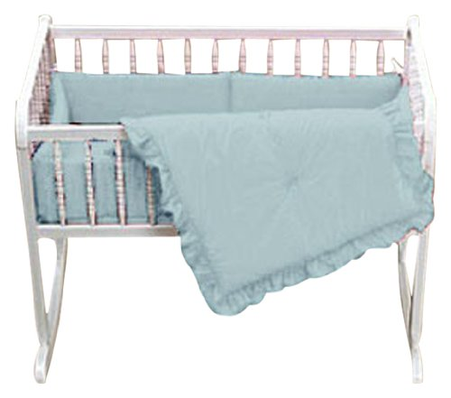 Baby Doll Bedding Solid Cradle Set, Blue
