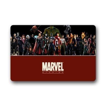 skoyi Custom Marvel Hero The Avengers Captain American Top tessuto lavabile in lavatrice e antiscivolo per interni ed esterni casa ufficio bagno Welcome Zerbino 23.6X 15.7