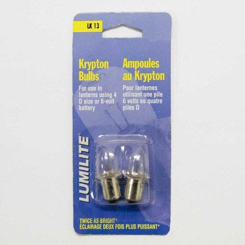 Lumilite-LK13-Krypton-48V-075A-Gas-Flange-Base-Bulb-for-6-Volt4D-Cell-Flashlight-2-Pack