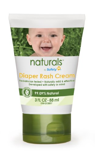 Safety 1st Naturals Diaper Rash Cream, 3-Ounce Tubes (Pack of 3)