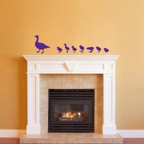 Wall Vinyl Decal Sticker Art Design Silhouette Duck With Nestling Baby Nursery Room Nice Picture Decor Hall Wall Chu226 back-1075354
